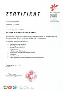staatlich anerkannter Desinfektor | Lena Möllers | Gebäudereingung Jansen GmbH | Stadtlohn