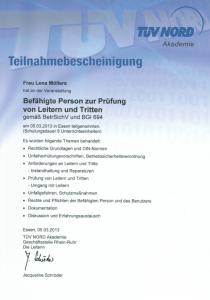 Leitern und Tritte | Lena Möllers | Gebäudereingung Jansen GmbH | Stadtlohn