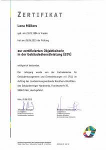 Objektleiterin | Lena Möllers | Gebäudereingung Jansen GmbH | Stadtlohn