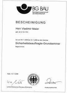 Sicherheitsbeauftragter | Vladimir Maier | Gebäudereingung Jansen GmbH | Stadtlohn